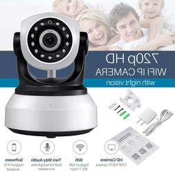 720P WIFI Wireless Pan Tilt Security IP Camera CCTV Night Vi