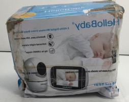 HelloBaby 2.4 GHz Digital Wireless Video Baby Monitor w/ Rem