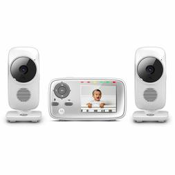 "Motorola 2.8"" Video Baby Monitor w/ Two Cameras MBP483-2 Bra"