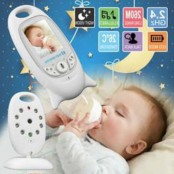 """2"""" Baby Monitor 2.4GHz Color LCD Audio Talk Night Vision Wir"""