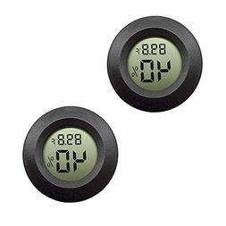 2-pack EEEkit Hygrometer Thermometer Digital LCD Monitor Ind