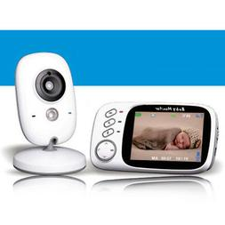 "3.2"" LCD Screen Baby Monitor with Night Vision & Temperature"