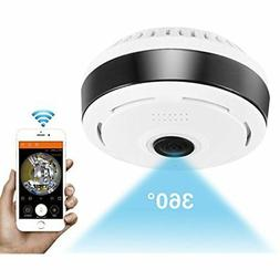 360 Remote Home Monitoring Systems Degree Panoramic Camera W