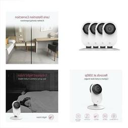 4pc Remote Home Monitoring Systems Camera, 1080p Wireless IP
