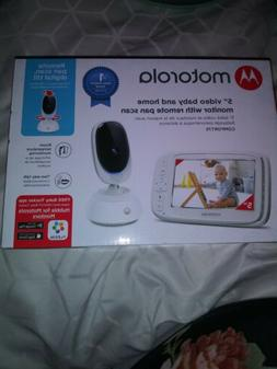 "Motorola 5"" Video Baby & Home Monitor with Remote Pan Scan"