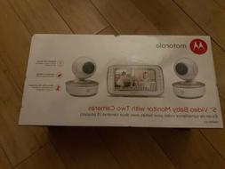 "Motorola 5"" Video Baby Monitor with Two Cameras  New"