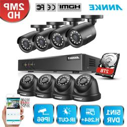ANNKE 5MP Lite 8CH DVR 1080P Outdoor Security Camera System