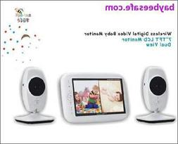 """The Twin Guardian"" 7 inch Dual Cam Video Baby Monitor 