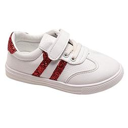 Axinke Kid Boys Girls Casual Outdoor Sport Shoes Bling White