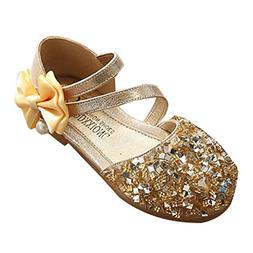 Axinke Toddler Girls Fashion Sequins Princess Shoes Closed-t