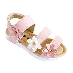 Axinke Toddler Littler Girls Summer Casual Open Toe Flat Pri