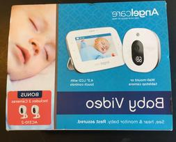 "Angelcare Baby Video Monitor, 4.3"" Screen, Two Wide Angle Ca"