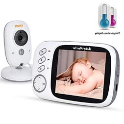 FITNATE Video Baby Monitor with 3.4inch LCD Display Wireless