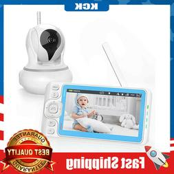 Baby Monitor with Camera and Audio 720P Video with 5 Inches