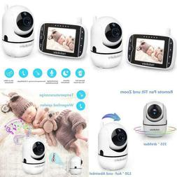 Baby Monitor with Remote Pan-Tilt-Zoom Camera and 3.2'' LCD