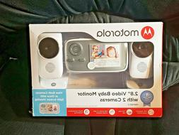 """Brand New Motorola 2.8"""" Video Baby Monitor with Two Cameras"""