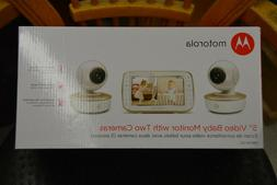 "BRAND NEW Motorola MBP50-G2 5"" Video Baby Monitor with Two C"