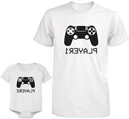 Daddy and Baby Matching T-Shirt and Bodysuit Set – Player