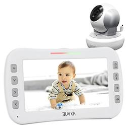 "Axvue E650 Video Baby Monitor with 5.0"" LCD Screen and Pan T"