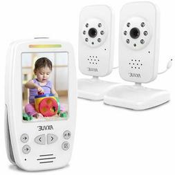 "AXVUE E662 Video Baby Monitor with Two Cameras and 2.8"" LC"