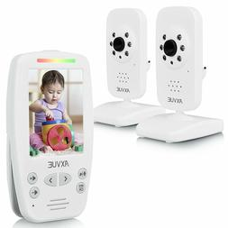 "Axvue E662 Video Baby Monitor, 2.8"" LCD Screen and 2 Camera"