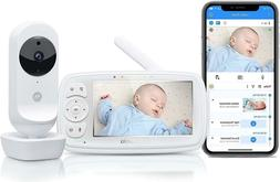 """MOTOROLA EASE44CONNECT Video Baby Monitor 4"""" LCD Remote Nigh"""