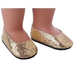 Glitter Doll Shoes - Fashion Dress Shoe For 18 inch American