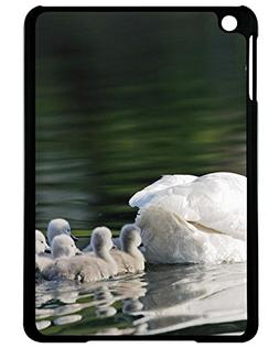 Lidoy Holiday Gifts swans birds babies Black Print With Shel