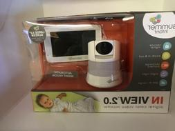 """SUMMER INFANT IN VIEW 2.0 DIGITAL COLOR VIDEO 5.0"""" MONITOR 8"""