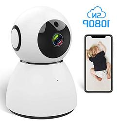 Ssnwrn 1080P IP WiFi Dome Camera Baby Monitor with Wireless