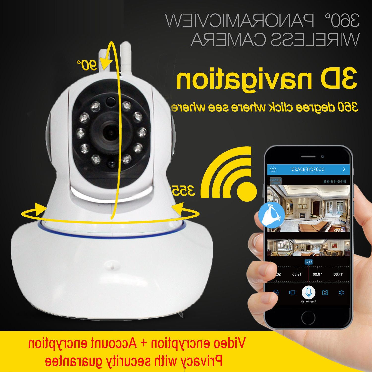 1080P Wireless Baby,Pet Monitor Night Alarm IP CCTV