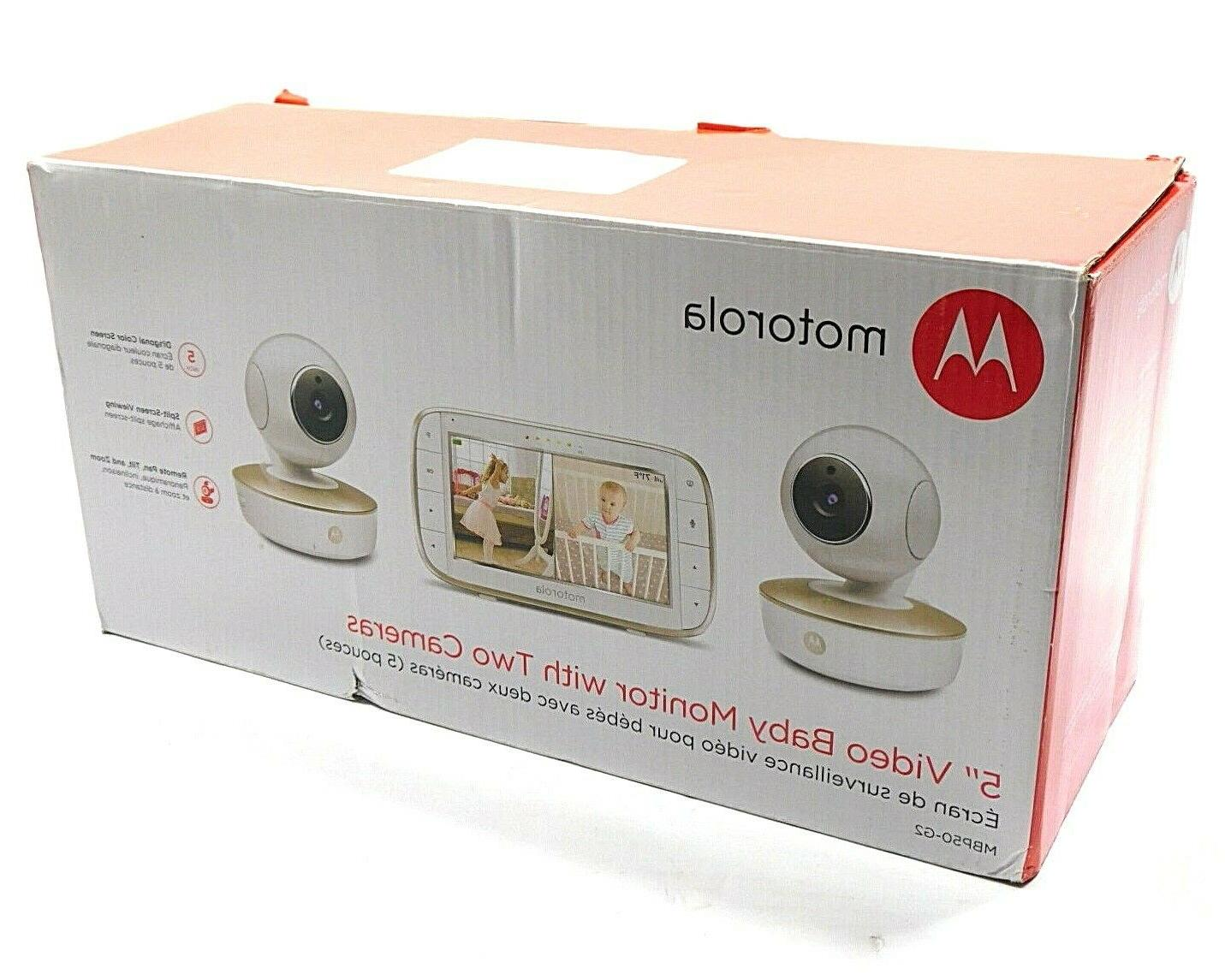 5 video baby monitor with two cameras