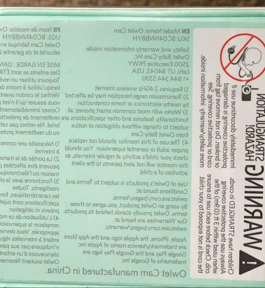 Summer Infant 28640 BABY TOUCH WIFI MONITOR CHARGER POWER DO