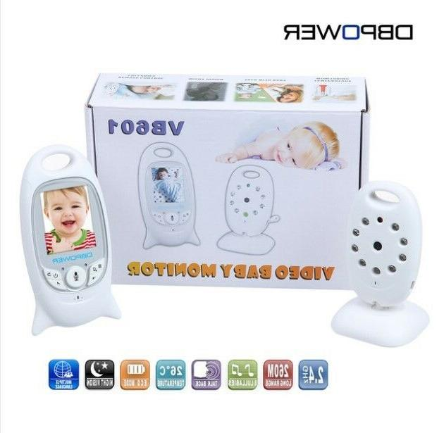 "DBPOWER 2.0"" Color LCD Video Wireless Baby Monitor 2 Way Tal"