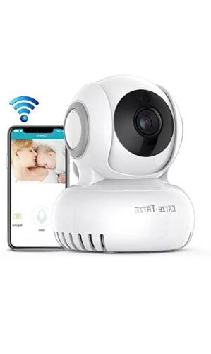 Katze-Tatze Baby Monitor IP Camera Night Vision 720P HD with Two-Way Audio,...