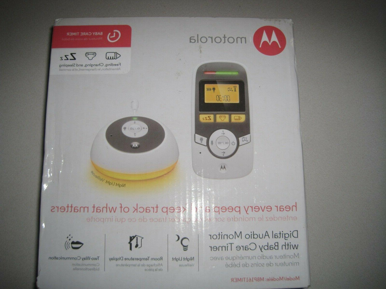 Motorola Digital Audio monitor with baby care timer For Infant Nursery