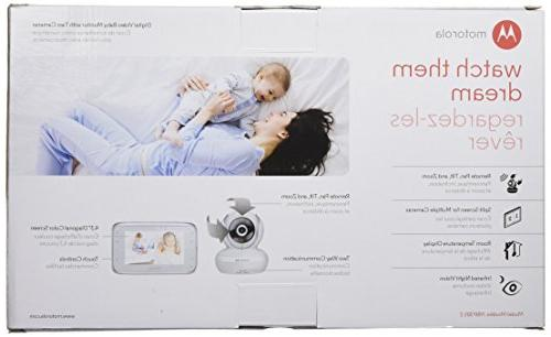 Motorola Baby Monitor with 4.3-Inch Color 2 Remote Pan, Tilt and