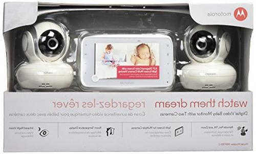 Motorola MBP38S-2 Video Baby with Color LCD and 2 Cameras with Pan, Tilt and