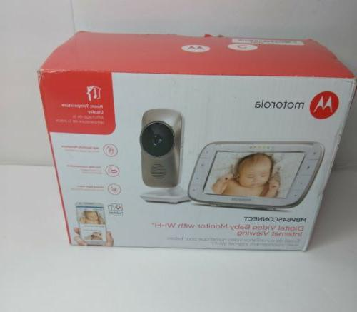 Motorola MBP845Connect Video Baby Monitor with Wi-Fi, 5-Inch