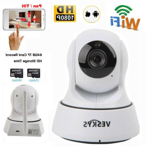 HD 1080P Home Security WiFi IP Camera Two-way Audio CCTV Bab