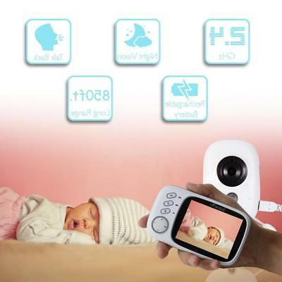 Baby Monitor LCD Display Baby Monitor with Night Vision and Temper