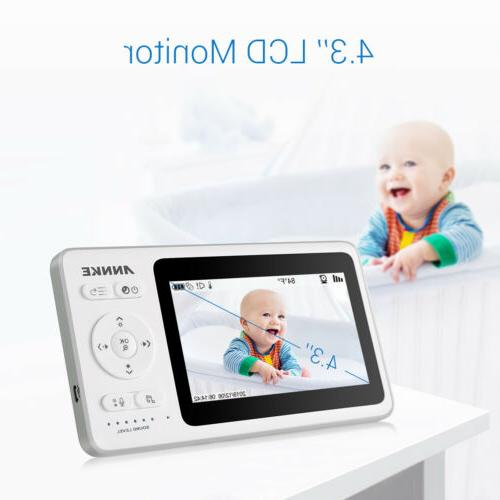 """ANNKE Wireless Baby Monitor with 4.3""""LCD 10ft Night Vision T"""