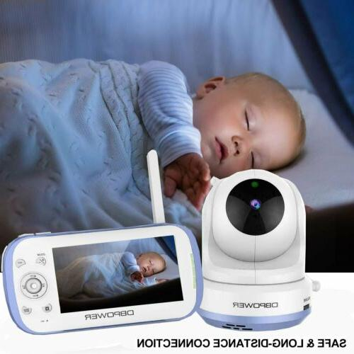 "DBPOWER Baby Monitor w/ 4.3"" Split Screen Sound Activated Vi"