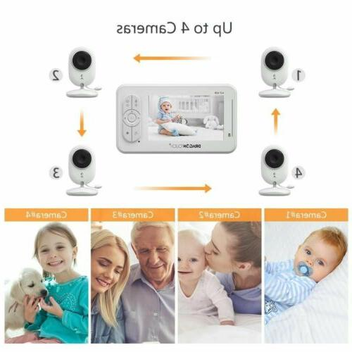 """DT40 Baby Video Lullaby Temperature Monitoring 4.3"""""""