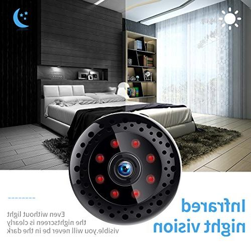 Hidden Spy Mini WiFi 1080P Wireless Nanny for iPhone/Mac/Android/Window Remote with Motion