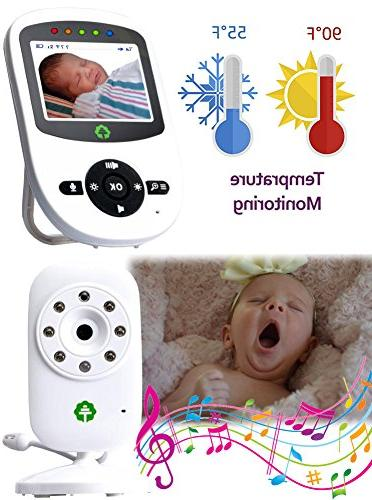 Total Connection Baby Monitor, Camera, Clear Temperature 2-Way Newborn Lullaby