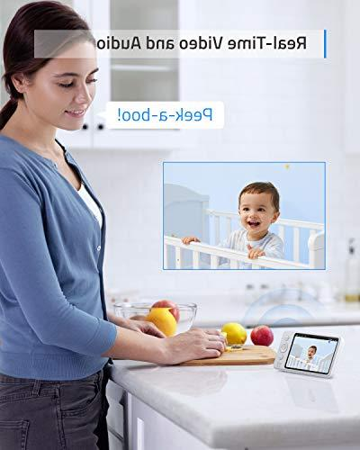 """Baby Security SpaceView Baby Pioneering Generation, 5"""" LCD Display, 460 Vision, 2-Way Audio, Battery"""