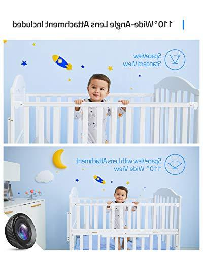"""Baby eufy Security SpaceView Video Pioneering 5"""" HD LCD 110° Lens Included, Up to 460 Ft Range, Night Vision, Audio, Battery"""