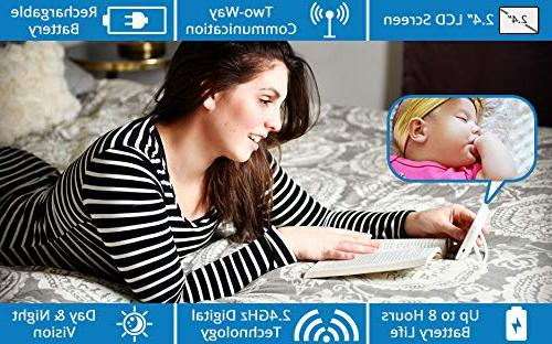 """Total Connection Baby Monitor, Camera, 2.4"""" Clear Vision, Temperature 2-Way Talk, Newborn"""