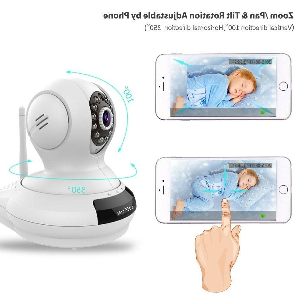 Video Baby Monitor 1080p Screen Wireless Camera WiFi Motion